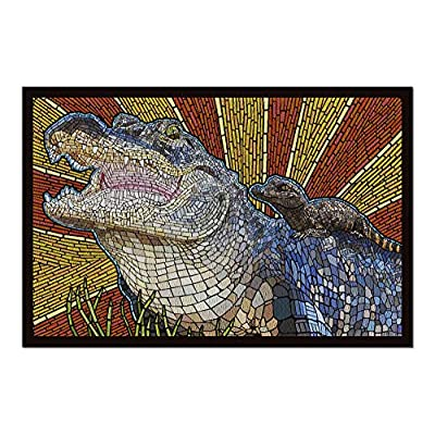 Alligator - Paper Mosaic (Premium 1000 Piece Jigsaw Puzzle for Adults, 20x30, Made in USA!): Toys & Games