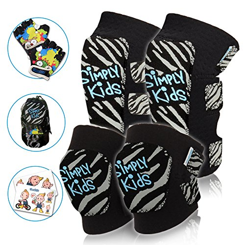 Bmx Gear (Innovative Soft Toddler Knee And Elbow Pads Plus Bike Gloves | Kids Protective Gear Set | Comfortable Breathable Safe | Roller Skate, Skateboard, Rollerblade, BMX With Mesh Bag For Boys And Girls)