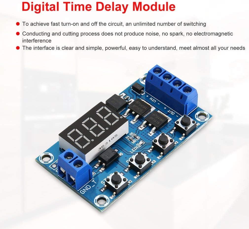 Double MOS LED Num/érique Temps Retard Relais D/éclencheur Cycle Minuterie Retard Commutateur Circuit Carte Module De Contr/ôle De Synchronisation DIY DC 12 V 24 V