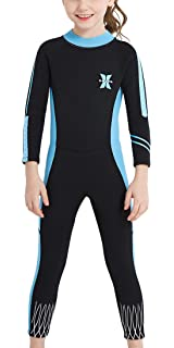 8ea8dd78b6 DIVE & SAIL Kids 2.5mm Wetsuit Long Sleeve One Piece UV Protection Thermal  Swimsuit