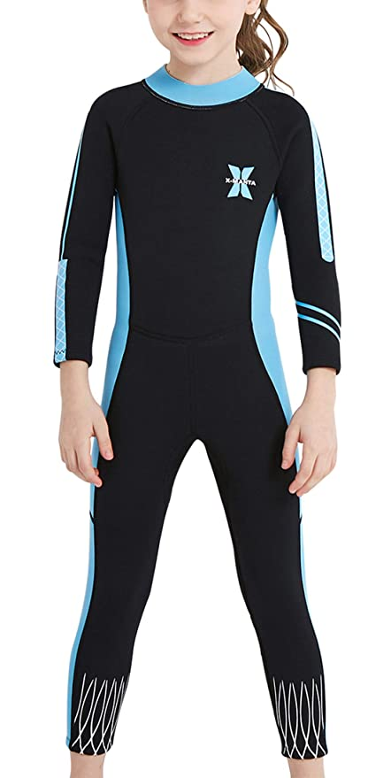 e7c325e7419 DIVE & SAIL Girls Wetsuit Warm 2.5mm Long Sleeve Swimsuit Sun UV Protection  One Piece