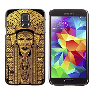 Licase Hard Protective Case Skin Cover for Samsung Galaxy S5 - Cool Egyptian Pharaoh Art