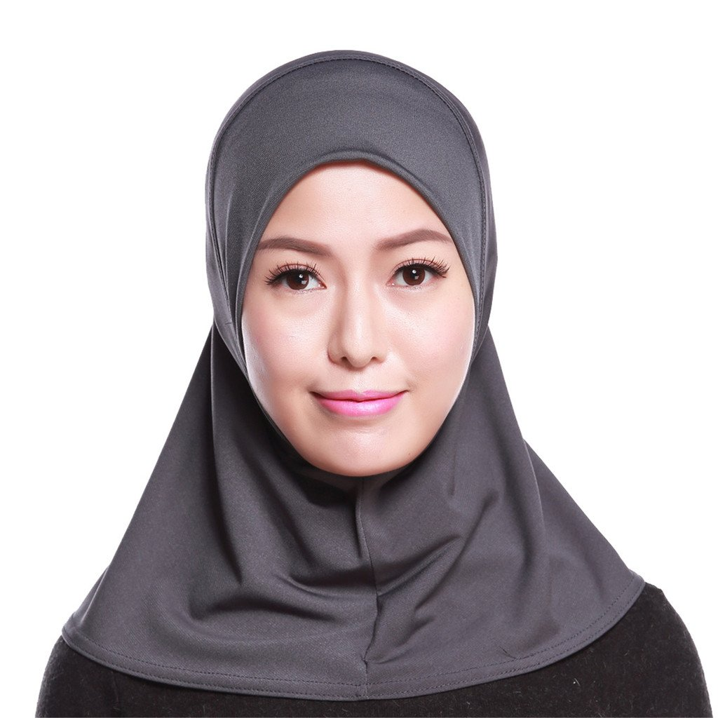 GladThink Womens Muslim Mini Hijab Scarf With More colors MSL-GT-HS103-BLACK