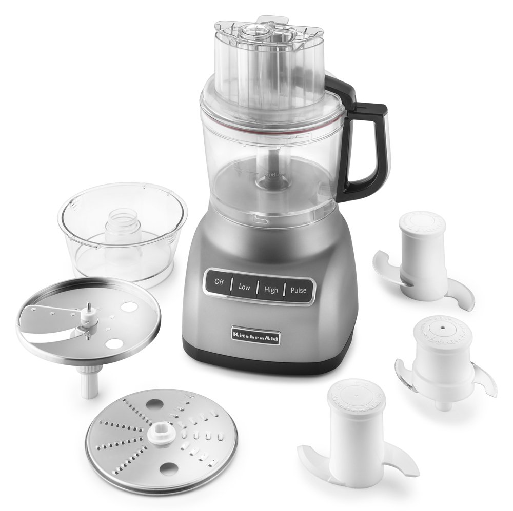 Kitchenaid food processor reviews 7 cup - Amazon Com Kitchenaid Kfp0922cu 9 Cup Food Processor With Exact Slice System Contour Silver Kitchen Dining