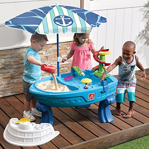 Step2 Fiesta Cruise Sand & Water Table with Umbrella Play by Step2 (Image #1)