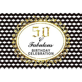 Amazoncom Yeele 6x4ft 50th Birthday Backdrop Party Banner Home