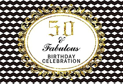 Yeele 6x4ft 50Th Birthday Backdrop Party Banner Home Photography Background Adult Father Mother