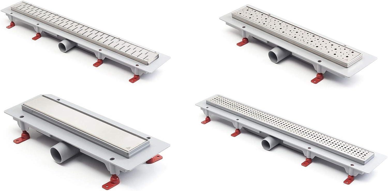 Canaleta de desagüe de acero inoxidable para ducha, 75 cm, modelo clásico: Amazon.es: Bricolaje y herramientas