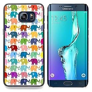 "For Samsung Galaxy S6 Edge Plus / S6 Edge+ G928 Case , Colores en colores pastel Modelo blanco"" - Diseño Patrón Teléfono Caso Cubierta Case Bumper Duro Protección Case Cover Funda"