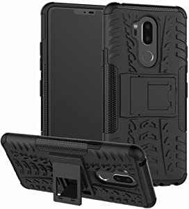 LG G7 Case, Lantier Hybrid Armor Shockproof Impact Protection Tough Hard Rugged Heavy Duty Combo Dual Layer Protective Case with Kickstand for LG G7 ThinQ Black