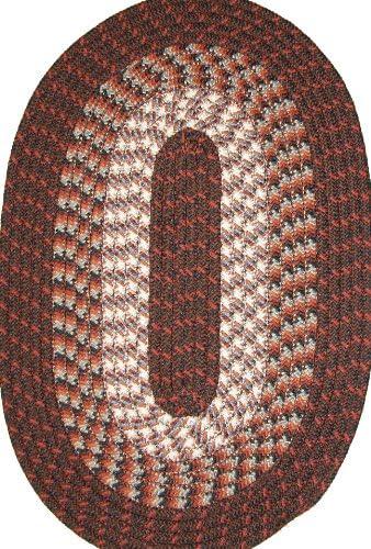 Hometown 40 x 60 Braided Rug in Dark Walnut