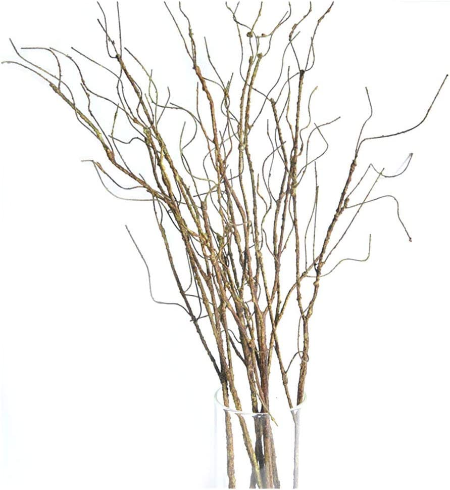 "Pursuestar 5Pcs 29.5"" Lifelike Dry Willow Branches Bendable Iron Wires Artificial Floral Flower Stub Stem DIY Craft Wedding Home Room Office Hotel Hall Decoration"