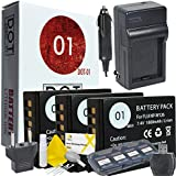 DOT-01 3x Brand Fujifilm X-A3 Batteries and Charger for Fujifilm X-A3 Mirrorless Camera and Fujifilm XA3 Accessory Bundle for Fujifilm NPW126 NP-W126
