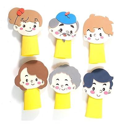 10pcs en peluche douce Petite enfants marionnettes de bébé étage du temps pour les tout-petits, famille de marionnettes pour enfants, Bébés, les tout-petits et toute la famille