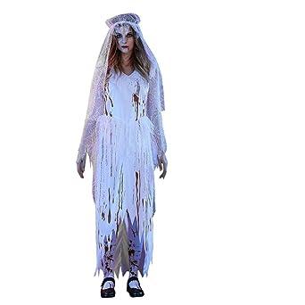 Las mujeres vestidos, talla DE adulto Sexy de color blanco novia ...