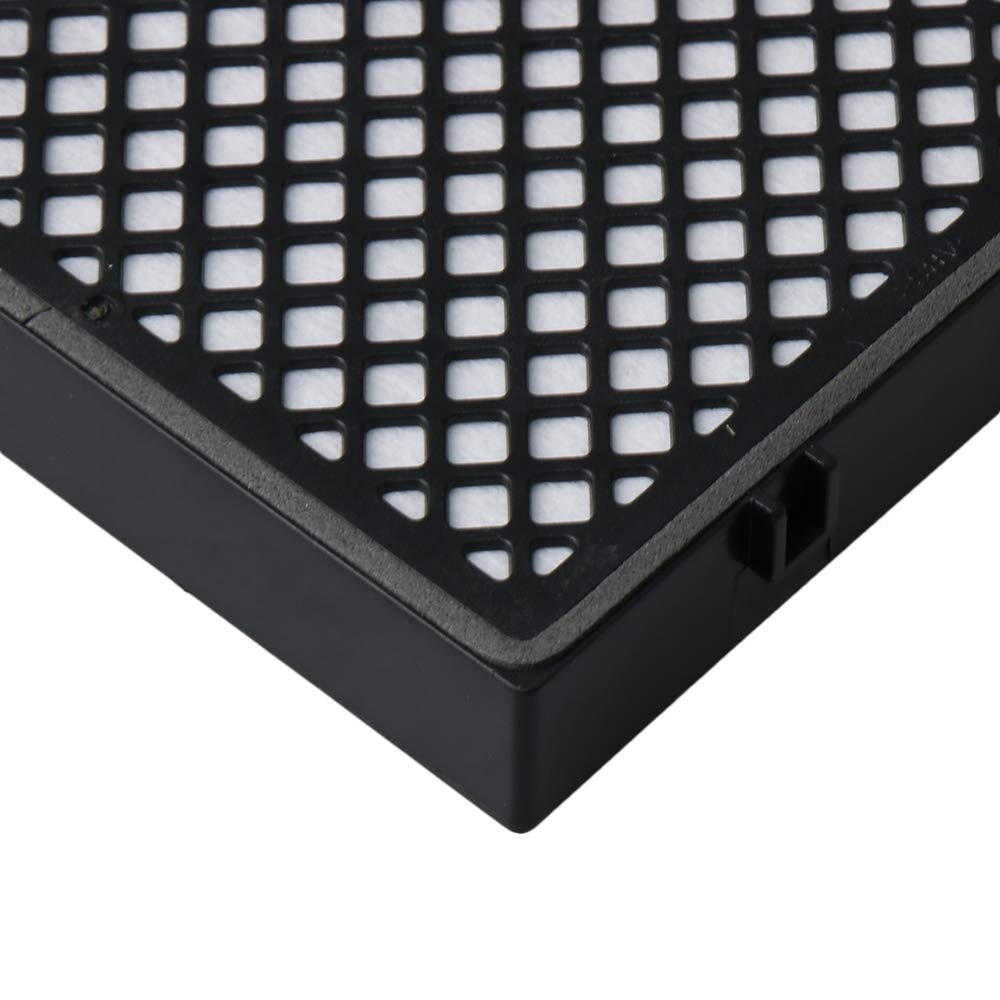 BQLZR 11.9x11x2cm Activated Carbon Black Car Air Filter Against Bacteria Dust Pollen Harmful Gases