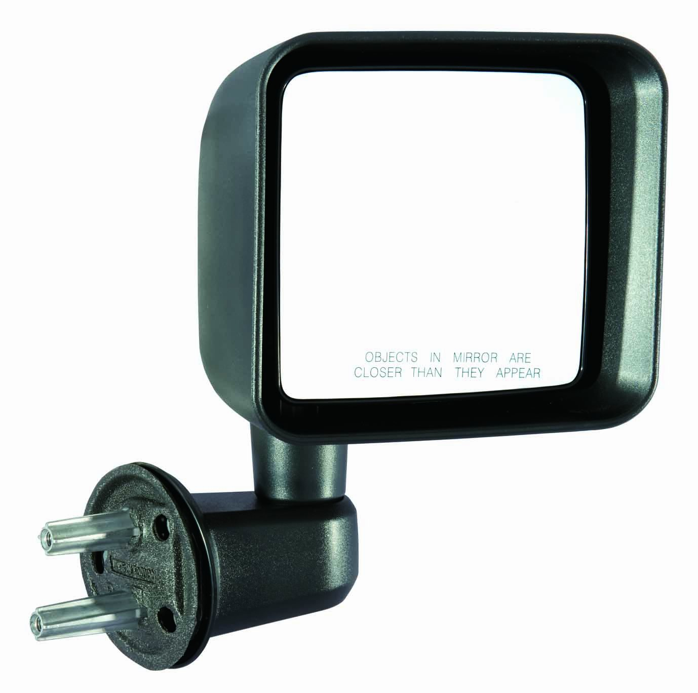 Depo 333-5409L3MF Jeep Wrangler Driver Side Textured Swing Away Manual Mirror