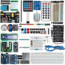 DealMux UNO R3 Board Project Kit LCD1602 Servo Motor Buzzer Sensor For Arduino