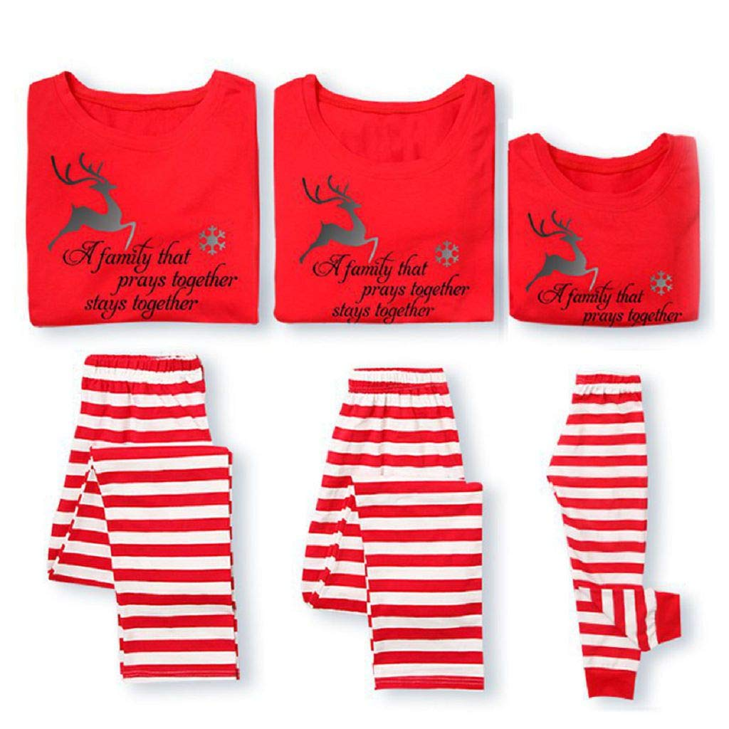 Yunchuang Matching Family Pjs Christmas Jammies Cotton Pajamas Kids Sleepwear Xmas B7 other