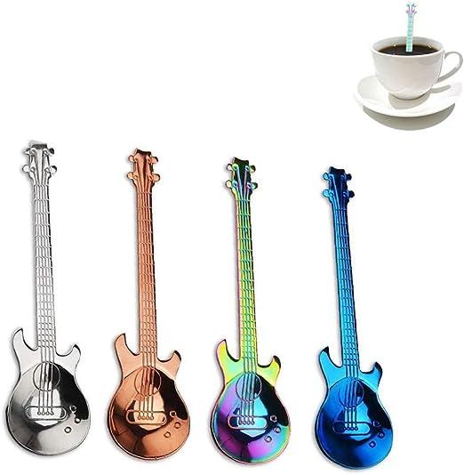 eiseyen 4 pieza Guitarra Acero Inoxidable Cuchara para café té de ...
