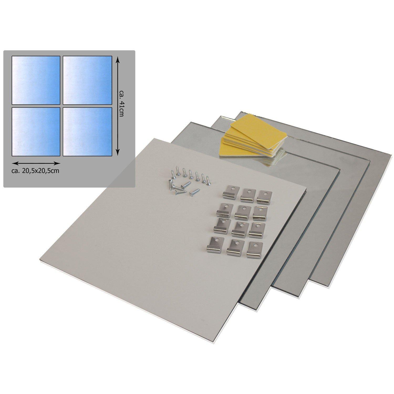 Specchio quadrato (20.5 x 20.5 cm)   set da 8 pezzi: amazon.it ...