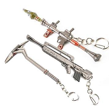 WQWQ Rifle de Asalto Llavero Armas de Fuego Llavero ...