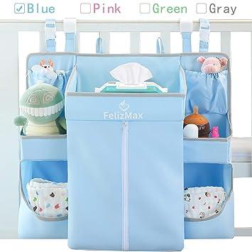 Livememory Nursery Baby Hanging Diaper Organizer Caddy Stacker for Changing Table Diaper Organizer Playard Crib