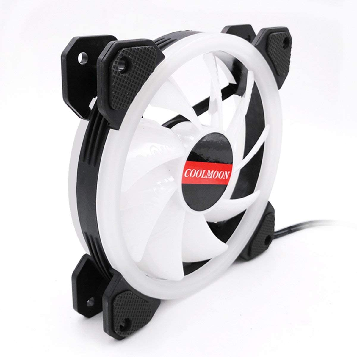 Computer PC Cooler Cooling Fan Double Ring 366 Modes RGB LED 120mm Fan Super Quiet Cooling Fan for CPU High-Airflow