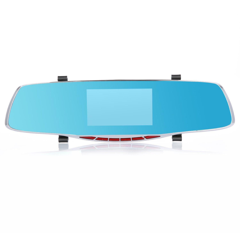Annke x5車ダッシュカムHD 1080p 4.3インチTFT LCDワイド角度運転レコーダーで前面と背面デュアルカメラ、内蔵G B077NW8WVZ