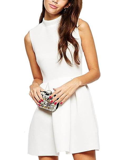 Sheinside - Vestido - para mujer blanco blanco