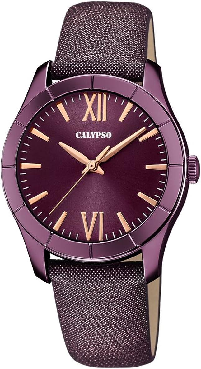 Calypso Reloj Análogo clásico para Mujer de Cuarzo con Correa en Cuero K5718/5