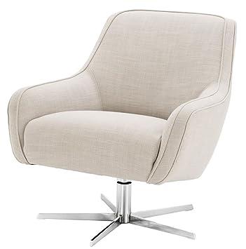 Casa-Padrino sillón Giratorio Colores Naturales/Plateado 76 ...