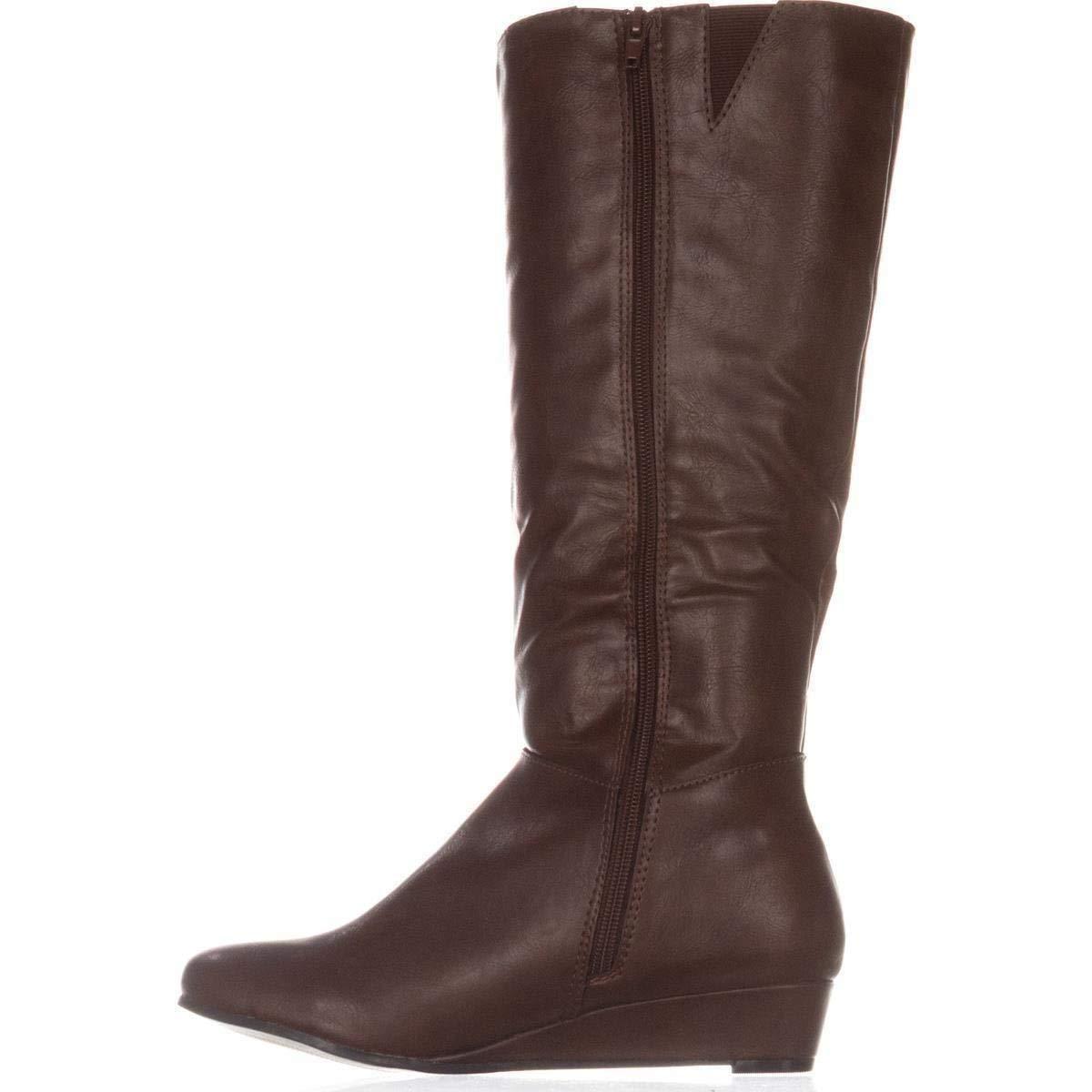 Style & Co. Womens Rainne Closed Toe Mid-Calf Fashion Boots, Cognac, Size 8.0