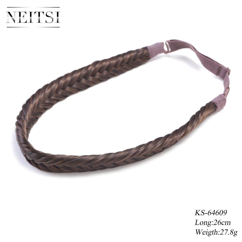 Neitsi KS64609 Gioiello intrecciato in pelo sintetico in fascia per capelli, intreccio a treccia, 3 ...