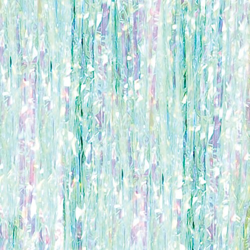 Iridescent Foil Curtain Entryway Party Supplies Decorations