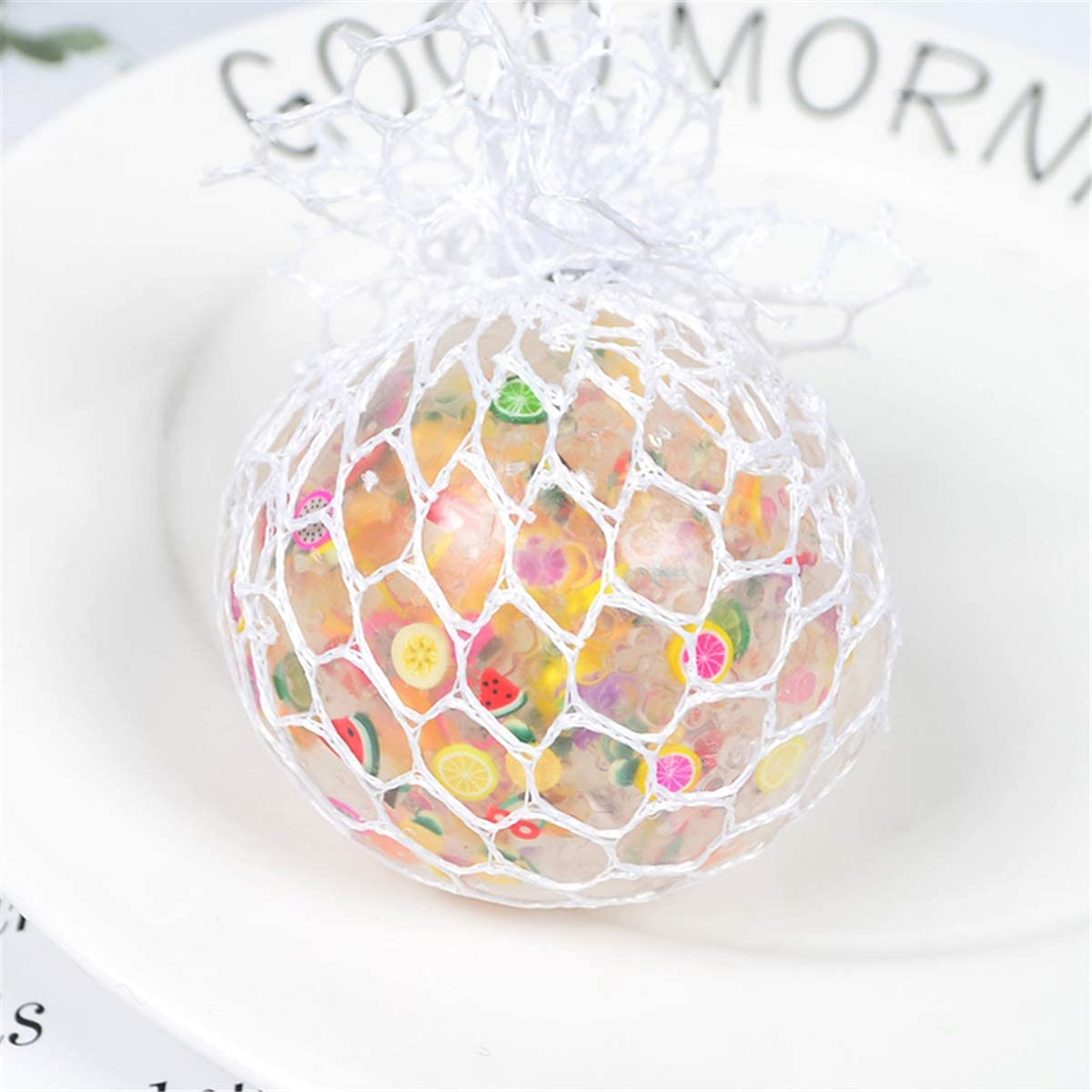 Bounce Ball,yangyang 6cm Funny Fruit Slice Anti-Stress Squishy Ball Grape Squeeze Mood Autism Kids/&Adult Play Vent Toys for Gift