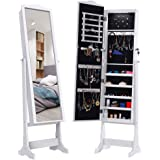 Amazon Com Langria Full Length Lockable Standing Jewelry