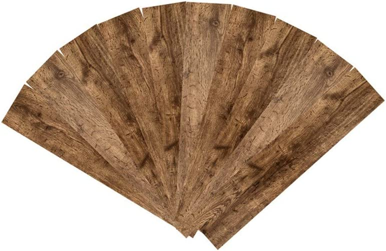 """19.5 x 4/"""" x /½/""""D by CYCTECH Solid Wood Planks All Natural Real Solid Wood Accent Wall Planks 10 Pack Wood Wall Paneling Barn Wood Wall Panel Easy Peel and Stick Application B"""