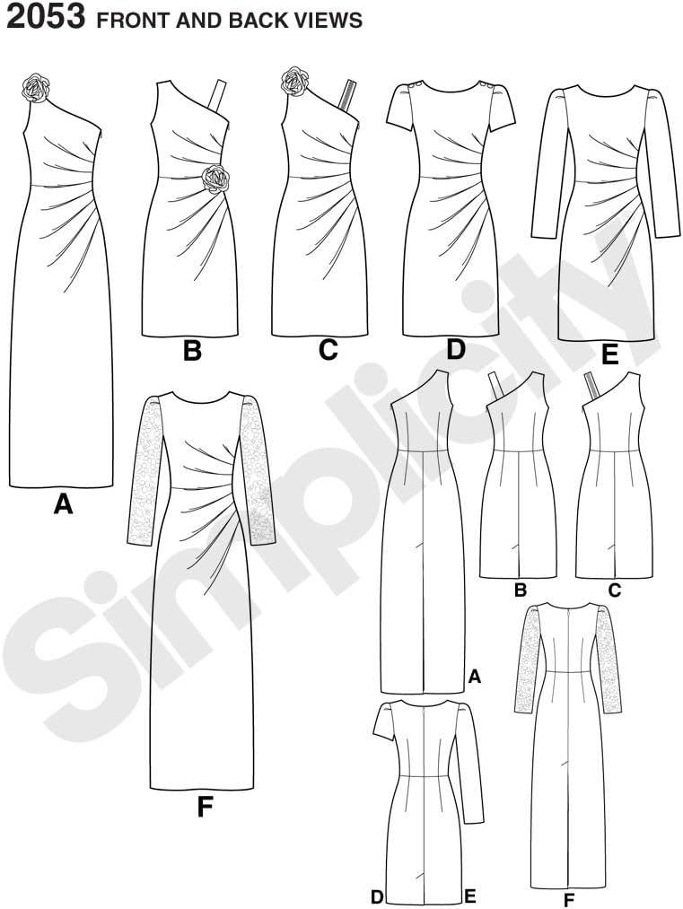 14/Schnittmuster 2053/Damenkleider 12 / Simplicity H5/