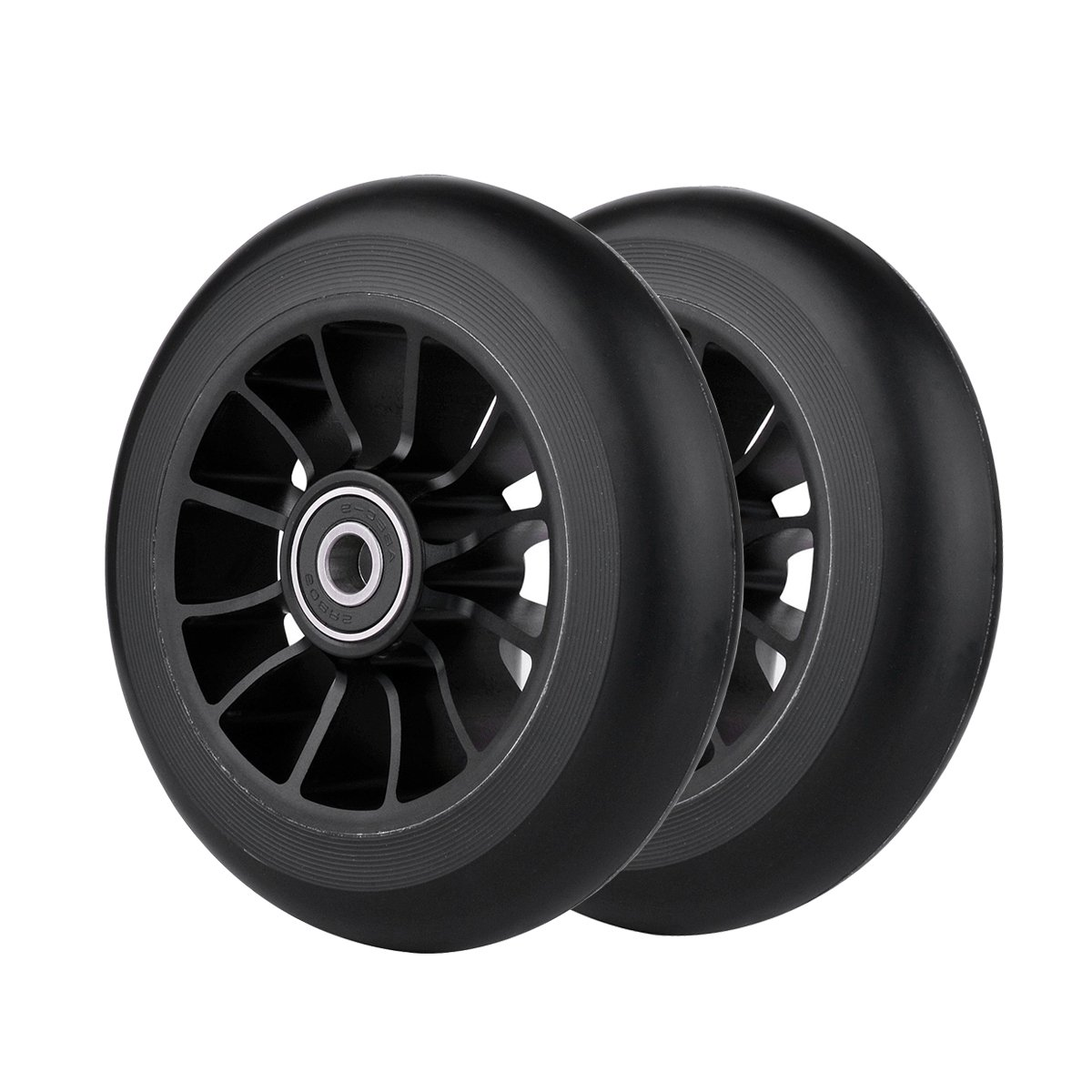 Z-FIRST 2Pcs 100 mm Pro Stunt Scooter Wheels with Abec 9 Bearings for MGP/Razor/Lucky/Envy/Vokul Pro Scooters Replacement Wheels(Black)