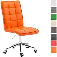 CLP Arbeitshocker Peking V2 mit Kunstlederbezug | Schreibtischstuhl mit Leichtlaufrollen | Höhenverstellbarer Drehstuhl