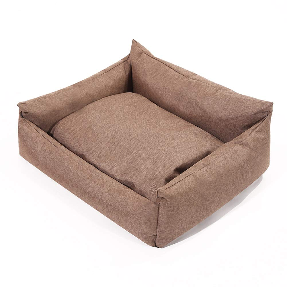 554521cm Dog Bed with Large Washable Cushion Removable Cover Brown color Selectable Size (Size   55  45  21cm)