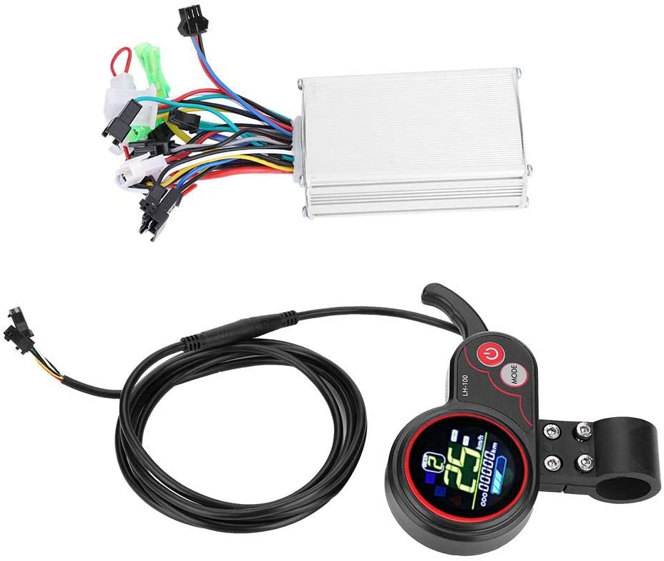 Keenso Eletric Scooter Controller with LCD Display, Controller LCD Display Control Panel with Shift Switch Accessory for Electric Bike Scooter