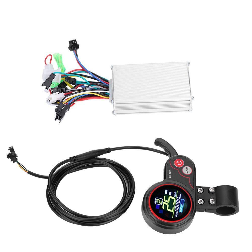 Alomejor Controller und LCD-Anzeige 24 V   36 V   48 V   60 V 250 W   350 W Geschwindigkeitsregler mit Wasserdichter LCD-Anzeigetafel für Elektrischen Fahrrad-Roller