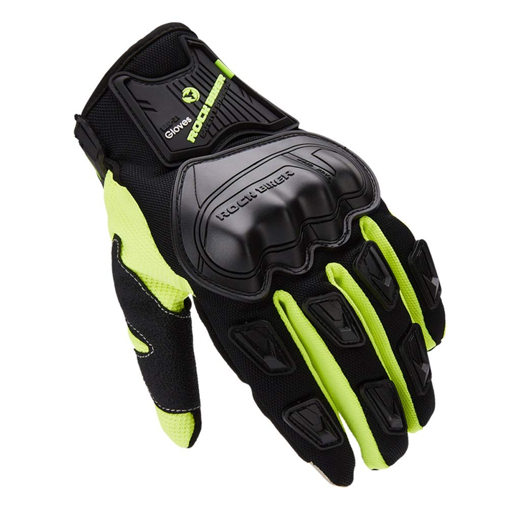 AINIYF Full Finger Motorcycle Gloves | Male Locomotive Tactical Gloves Riding Four Seasons Anti-skid Anti-skid Breathable Touch Screen (Color : Green, Size : XXL) by AINIYF (Image #1)