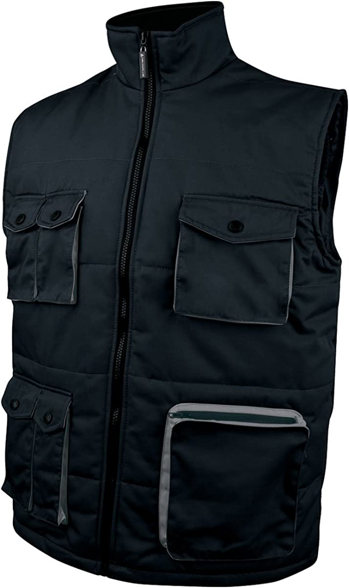 Deltaplus Delta Plus Stockton2 Mach Multi Pocket Zip Padded Work Wear Bodywarmer Gilet