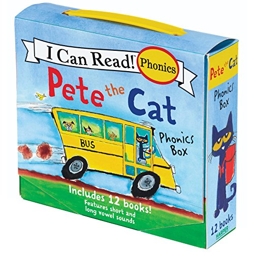 Pete the Cat Phonics Box: Includes 12 Mini-Books Featuring Short and Long Vowel Sounds (My First I Can ()