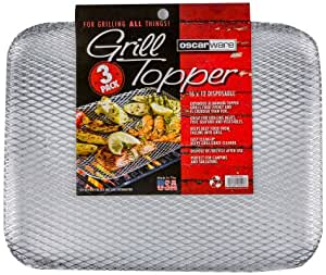 Oscarware 3-Pack Disposable Grill Topper, 16 by 12-Inch
