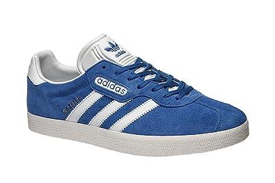 check out 4e1ce d4b37 blauweiß amp Adidas Super Schuhe Handtaschen Gazelle q77IzwE
