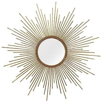 Stratton Home Decor S01029 Andrea Wall Mirror, W x 1.25 D x 26.00 H, Gold